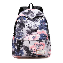 2018 Floral Printing Backpack USB Charge Bag Fashion Backpack School Bags Teenagers College Students Durable Laptop Travel Bag цена