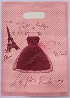 500 pcs En Plastique Shopping Sac 20*15 cm Tour jupe Cadeau Sac À Main, recyclables Utiles Vêtements Boutique Cadeau Sac 015020067