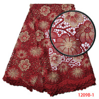 New Arrival African Lace Fabrics High Quality Cord Guipure Lace Fabric Nigerian Water Soluble Lace Fabric