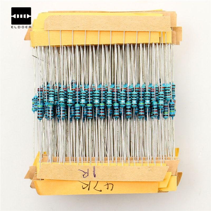 New Arrival 500pcs 50 Values 1/4W 0.25W 1% Metal Film Resistor Assortment Kit Set