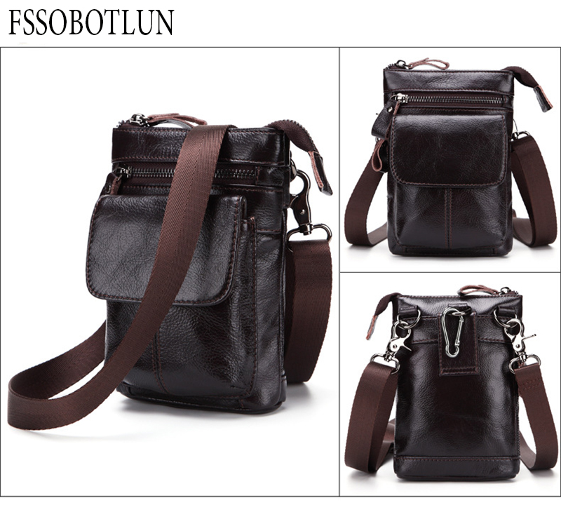 FSSOBOTLUN,For iPhone X 8 7 6 Plus Protective Case Bag Mens Waist Bag Leather Belted Mobile Phone Bag With Shoulder StrapFSSOBOTLUN,For iPhone X 8 7 6 Plus Protective Case Bag Mens Waist Bag Leather Belted Mobile Phone Bag With Shoulder Strap