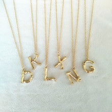 2cm Hammered 26 Letter Celine Alphabet Necklace