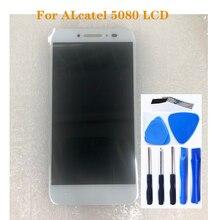"""5.0 """"per Alcatel One Touch Lustro Lite 5080 5080X 5080A 5080U 5080F 5080Q display LCD + touch screen mobile parti di riparazione del telefono"""