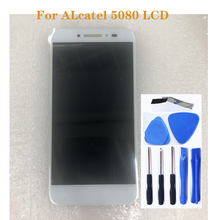 Pantalla LCD de 5,0 pulgadas para Alcatel One Touch Shine Lite 5080 5080X 5080A 5080U 5080F 5080Q + pantalla táctil del teléfono móvil, piezas de reparación