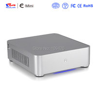 Realan Fashionable Mini ITX Htpc Computer Chasis E Q6 With Power Supply Aluminum 3 5mm