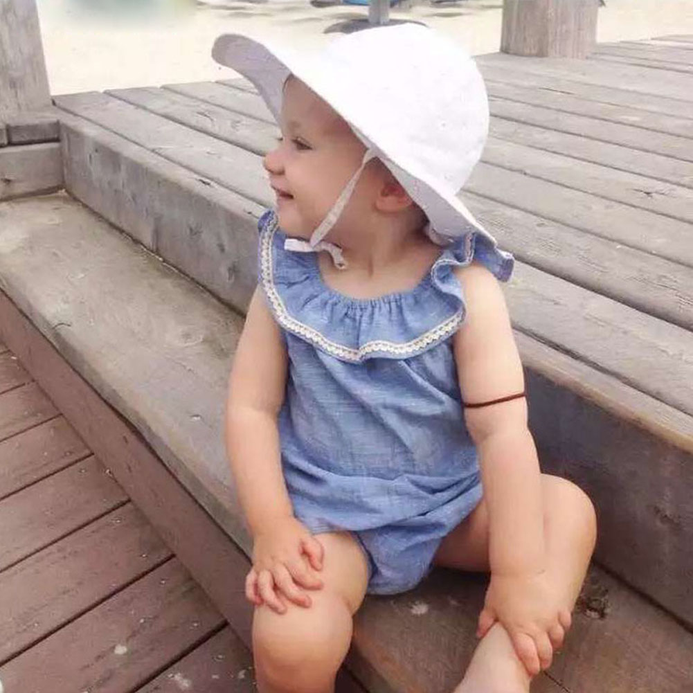 0- 36 Months Cute Newborn Baby Girl Lace Romper Clothes Infant Blue Lace Jumpsuit Cotton Rompers Jumpsuit Sunsuit Outfits newborn baby rompers baby clothing 100% cotton infant jumpsuit ropa bebe long sleeve girl boys rompers costumes baby romper