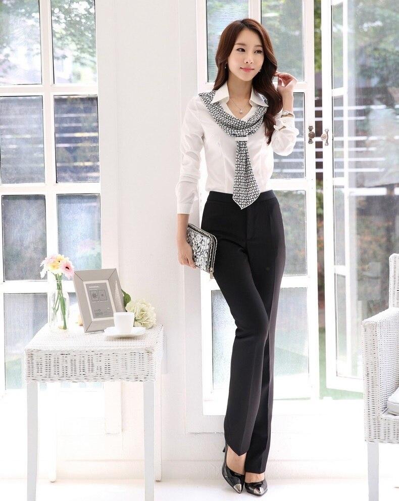 Fashion Female Pantsuits Women Suits Pant Blouse Sets Shirts & Tops Ladies Office Uniform Styles OL - Kidmall Online Store store