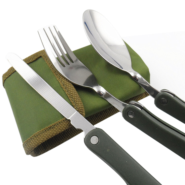 Practical 3in1 Outdoor BBQ Travel C&ing Pocket Folding Knife Fork tableware set Utensils Cutlery  sc 1 st  AliExpress.com & Practical 3in1 Outdoor BBQ Travel Camping Pocket Folding Knife Fork ...