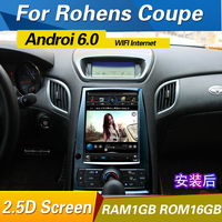 10.1inch Android 6.0 Car Radio GPS Head Unit For Hyundai rohens coupe 2009 2012/for genesis coupe 2008 2014 black/white color