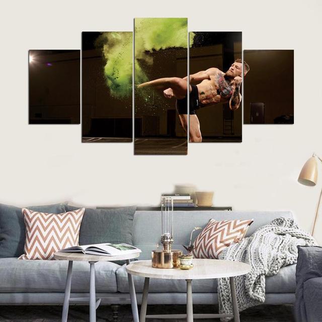 modularen bilder wandkunst rahmen 5 panel conor mcgregor, Wohnzimmer