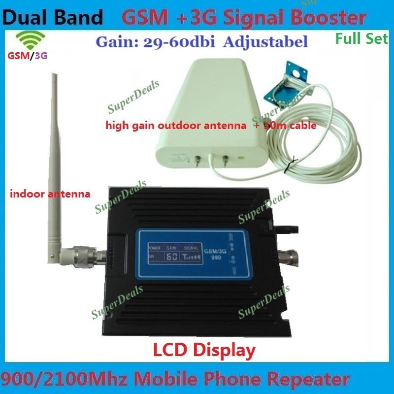Dual Band UMTS HSPA LTE FDD WCDMA 3G Repetidor de sinal de Telefonia móvel repetidor, reforço de sinal de celular gsm Impulsionador amplificadores