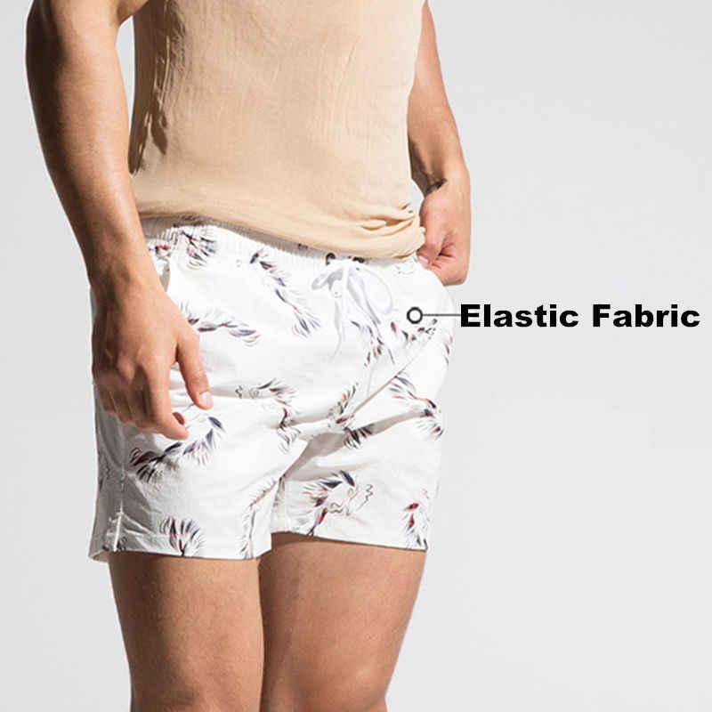 Micro-elástico DESMIIT de baño de los hombres pantalones cortos de natación bañador de nailon seco rápido traje hombre playa de surf Wear 2018