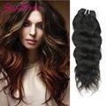 Brasileiro virgem cabelo natural ondas 4 pçs/lote natural preto 100% cabelo humano tecelagem 4 bundles lot bebê liss cabelo tece