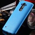 Doce cor moda suave tpu caixa do silicone para lg optimus g3 d830 d850 d831 d855 favo de mel fino dot acessórios capa para lg G3