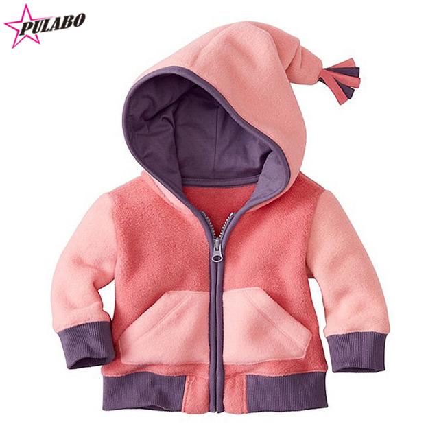 2016 NOVA moda bebê meninas meninos infantil roupas primavera outono das crianças outwear crianças casaco jaqueta de Patchwork transporte da gota