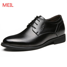 Black Genuine Leather Office Formal Shoes Men Suit Party pointed toe Mens Dress Shoes Italian Wedding Oxford Leather Shoes Men недорого