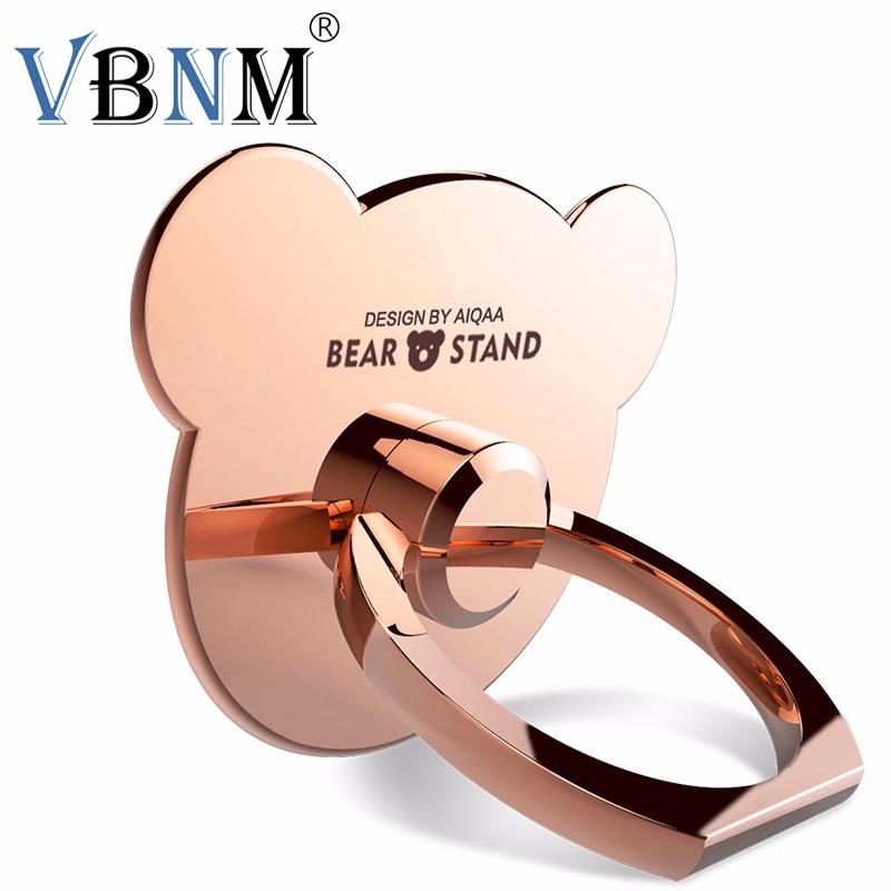 VBNM 360 Degree Rotation Finger <font><b>bear</b></font> <font><b>Ring</b></font> <font><b>Phone</b></font> Universal Stand Holder For iPhone 6 7 xiaomi redmi note4 Stand Mobile <font><b>Phone</b></font>