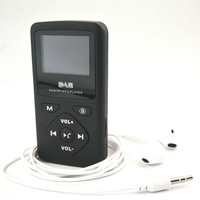 DAB P7 Pocket Stereo Radio FM Radio Station Radio Receiver LCD Display Supports TF Card FM Digital Radio Portable MP3 Player