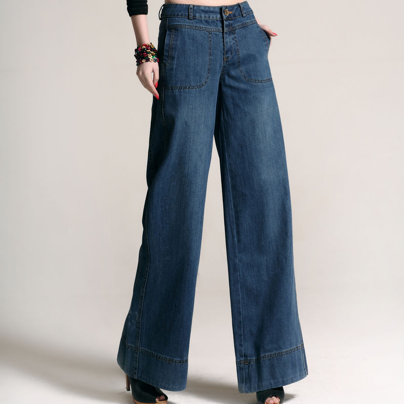 Womens Wide Leg Jeans Plus Size Ye Jean