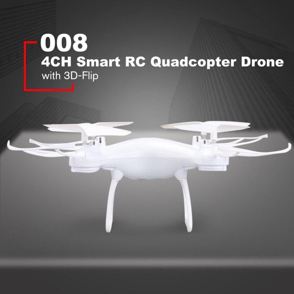 008 Smart 4ch Rc Quadcopter Drone Flugzeug Uav Mit Höhe Halten Ein Schlüssel Start-und Headless Modus 3d Flips Für Kinder Geschenk HöChste Bequemlichkeit