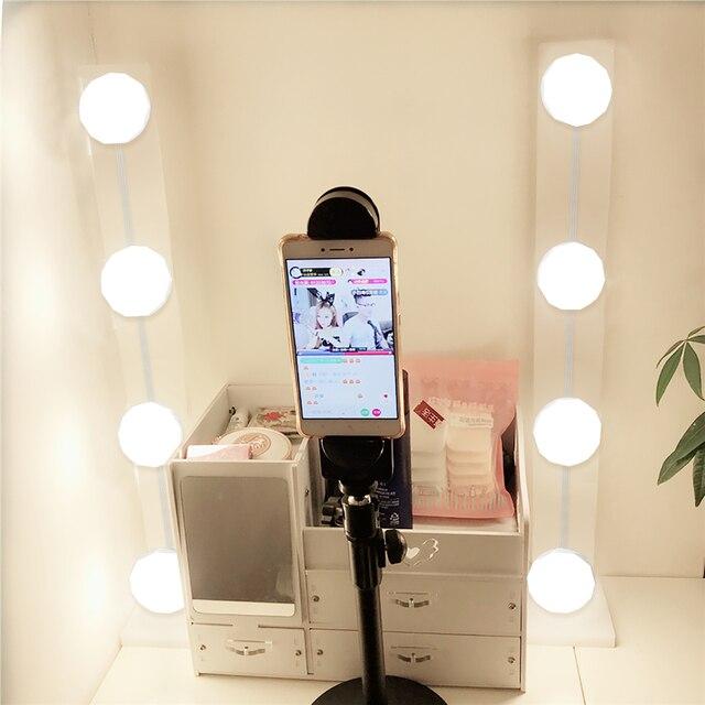 Spiegel Voor Op Kaptafel.Make Up Spiegel Led Verlichting Wandlamp Hollywood Vanity