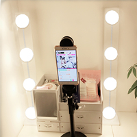 Makeup Mirror LED Lights Wall Lamp Hollywood Vanity Light Bulbs for Dressing Table Linkable Lighting Lamps Mirror not included