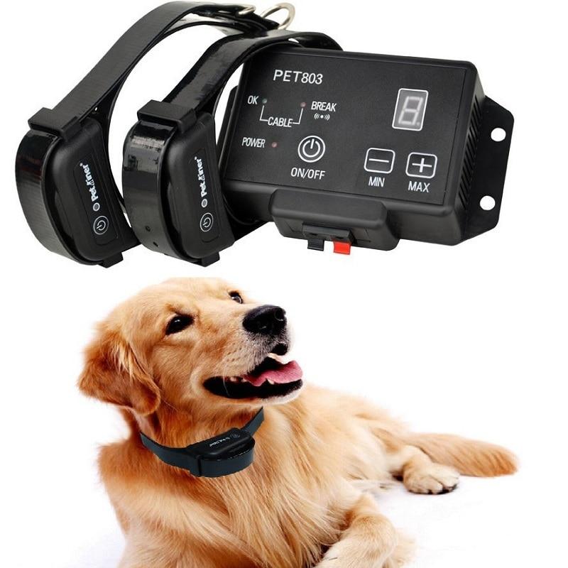 Ev ve Bahçe'ten Çeviklik Ekipmanları'de 2 Köpekler için elektrikli köpek çiti Inground Kablosuz Köpek Çit Sistemi Şarj Edilebilir ve Su Geçirmez Köpek Çit Yaka Aralığı 2500 m'da  Grup 1