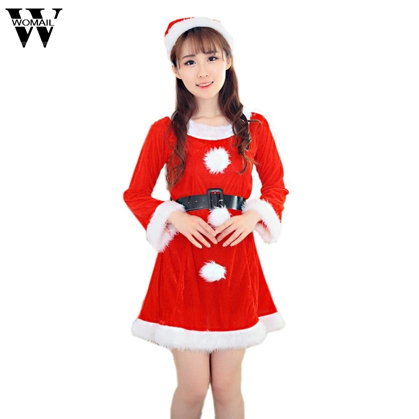 Womail women sexy santa christmas dress 2017 winter costume fancy womail women sexy santa christmas dress 2017 winter costume fancy dress xmas office party dresses outfit vestidos ot09 in dresses from womens clothing sciox Choice Image