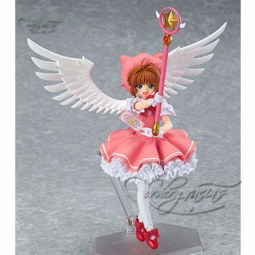 Cardcaptor Sakura Figma 244 Sakura Kinomoto Anime Action Figure Toy Collectibles Model Doll 495 23cm japanese anime figure cardcaptor sakura li syaoran action figure doll 1 7 scale pvc painted figure model toy