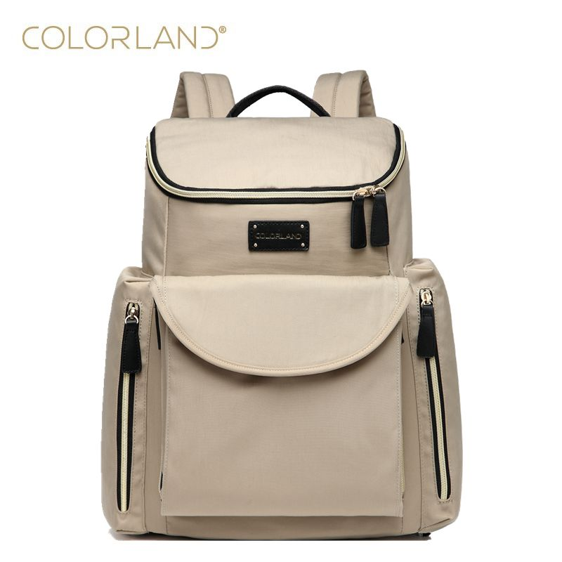 COLORLAND baby travel changing nappy diaper bag backpack handbags for mom daddy fashion mummy maternity bag orgaziner baby bags colorland pu leather baby travel mummy maternity changing nappy diaper tote bag backpack baby orgenizer bags bolsa maternidad
