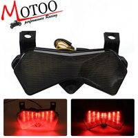 Motoo-darmowa wysyłka Motocykl PROWADZIŁ Światło Lampy Tylne Kierunkowskaz Tail Przystanek Dla Kawasaki ZX6R 636 2003 2004