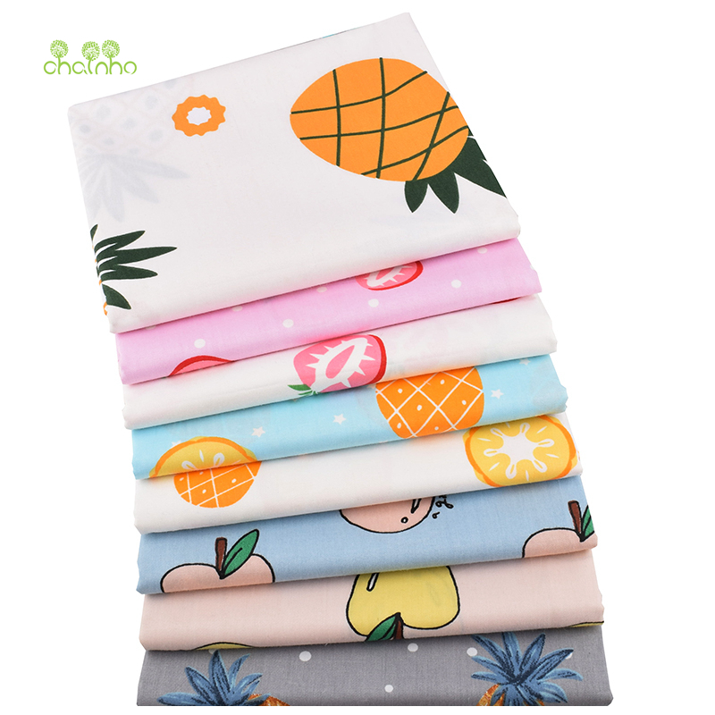 Home & Garden Chainho,new Fruit Pattern Series,printed Twill Cotton Fabric,for Diy Quilting Sewing Baby&childrens Sheet,pillow,material,cc296 Beneficial To The Sperm Fabric