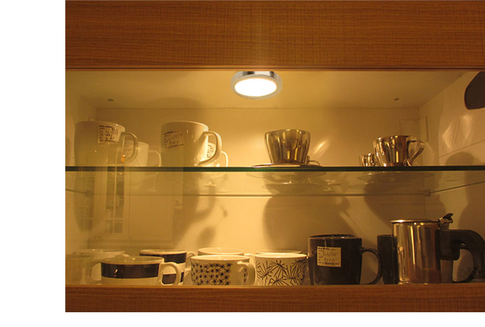 21PCS Under Cabinet Lamps 3W Motion Sensor IR Silver Round LED Puck Counter Led Lights Closet Cupboard Wardrobe Locker Lighting (17)