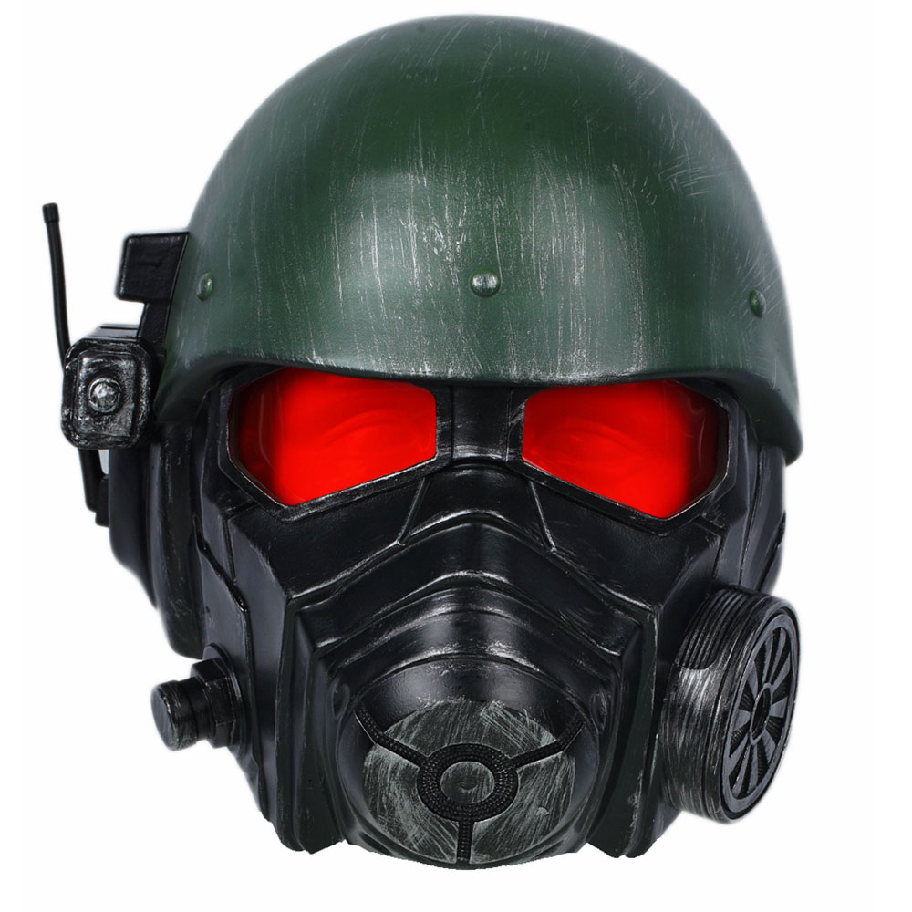 Fallout 4 Veteran Ranger Helmet Game Cosplay Mask Riot Armor Full Head High Quality Resin Helmet Halloween Christmas Party Prop image