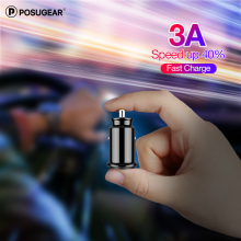 posugear Mini USB Car Charger For Mobile Phone Tablet GPS 4.8A Fast Car-Charger Dual Adapter
