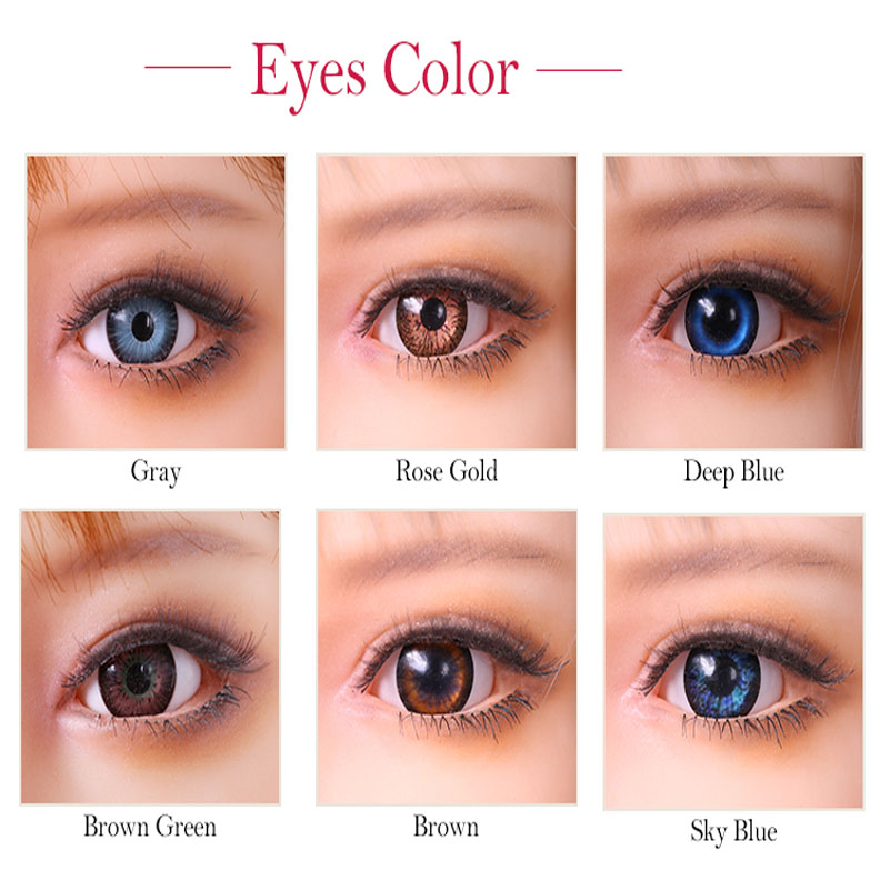 TPE Sex Doll Eyes For Real Silicone Love Dolls, TPE Sexy Doll, High Quality Can Fit 100cm To 170cm Body Many Color