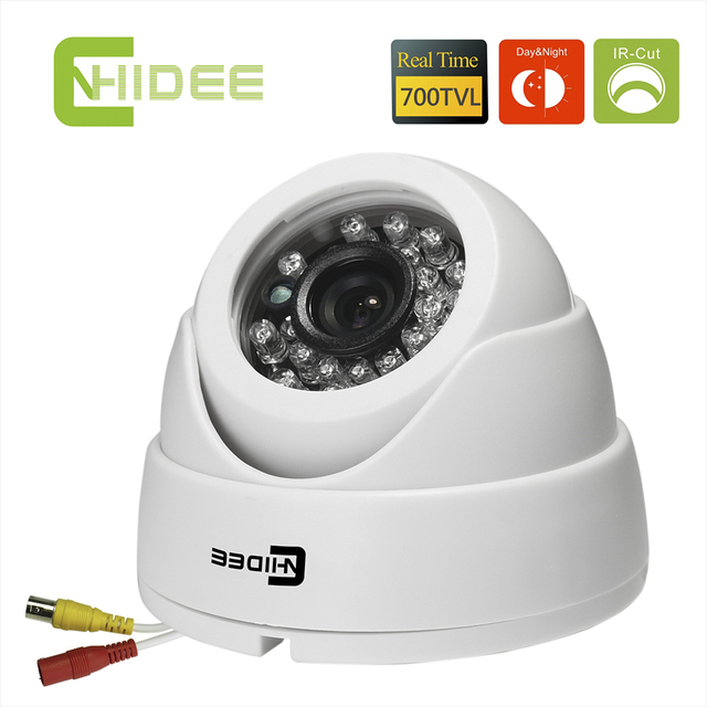 Cnhidee 700tvl effio-e 960 h ccd color cámara domo de infrarrojos de seguridad cctv la Visión nocturna de interior 20 UNIDS LED IR Distancia 15 M Camaras-