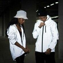 4XL Для мужчин куртка осень Светоотражающие 3 м легкая кофта куртки двигаться Для мужчин т хип-хоп Водонепроницаемый ветровка с капюшоном ФЛУОРЕСЦЕНТНОЕ пальто Для мужчин