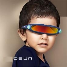 db6657639 الاطفال النظارات الشمسية X-الرجال شخصية الليزر نظارات بارد الروبوتات الشمس نظارات  القيادة مكبرة نظارات مع