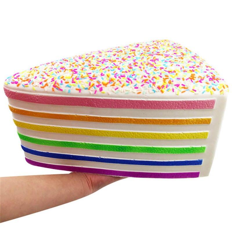 Gros Jumbo Triangle gâteau Squishy lente augmentation souple serrer jouet téléphone sangle parfumé AntiStress drôle enfant cadeau grandes Squishies 25 cm