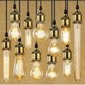 25 W 60 W 40 W Iluminação da Antiguidade Do Vintage Estilo Retro Tungstênio Filamento Edison lâmpada & suporte Da Lâmpada G80 ST64 E27 220 V A19 G125 T185