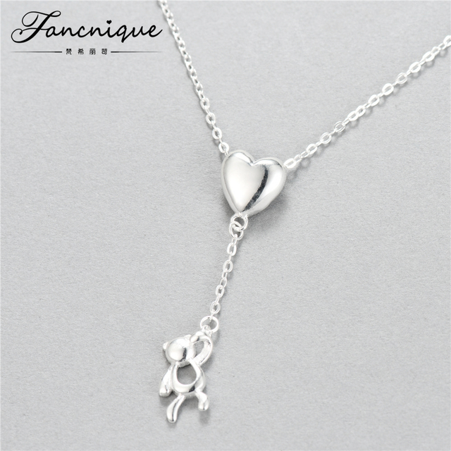 925 sterling silver cute heart balloon bear pendant necklace women 925 sterling silver cute heart balloon bear pendant necklace women children jewelry aloadofball Images