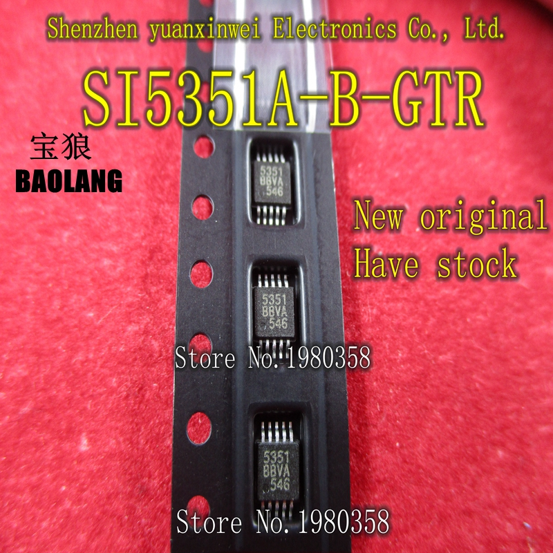 Free shipping 5pcs/lot New Original SI5351A-B-GTR SI5351A-A-GTR SI5351A SI5351 SI 5351 MSOP10 free shipping 5pcs lot 2sk3523 k3523 to3p offen use laptop p 100% new original page 1