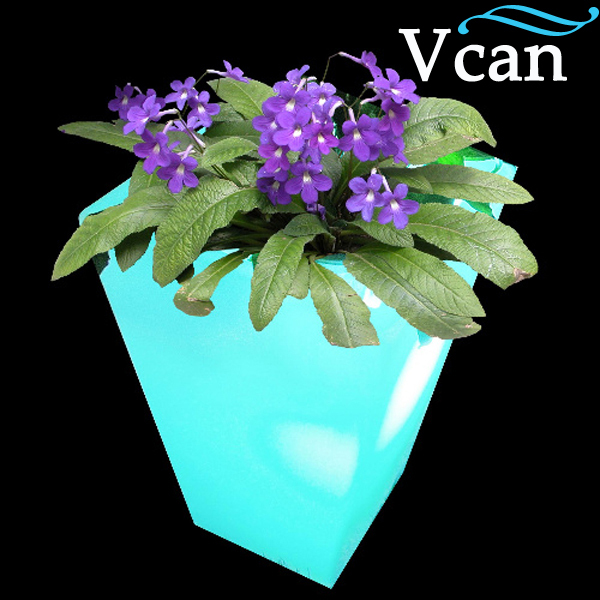 Outdoor or indoor flowerpot  colours change decor Waterproof LED Light Up Garden Furniture  VC-F4055 outdoor indoor plastic led light colours change remote control rechargeable apple seat chair furniture for bar