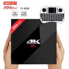 H96 Pro + Android 6.0/7.1 TV Box Amlogic S912 Octa core 3 г/32 г Wi-Fi 2.4 г/5.0 г BT4.1 KD полностью загружен H.265 DLNA Miracast 4 К плеер