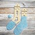 2 шт. деревянная вязка это Мое счастливое место носки формы блокаторы растягиватели носки формы ручной вязки носки