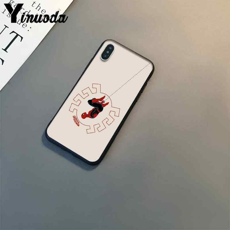 Yinuoda spiderman marvel superheroes padrão de luxo phonecase para iphone 8 7 6 s 6 plus x xs max 5 5S se xr 10 11 11pro 11promax