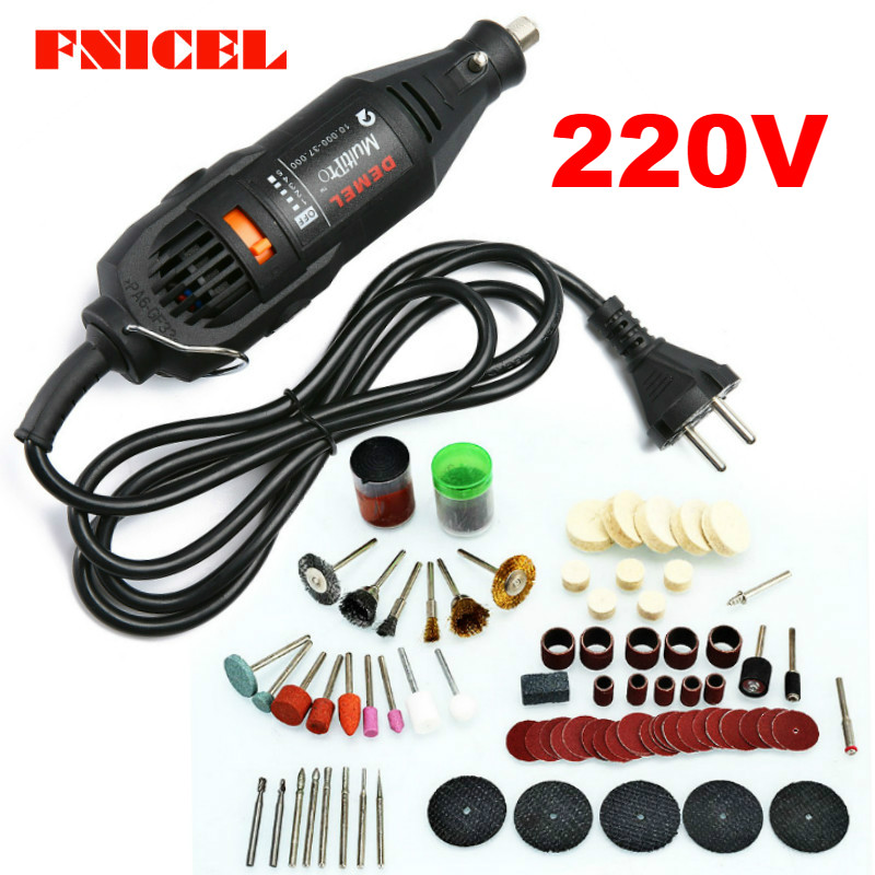 110/220V Electric Drill Dremel Grinder Engraving Pen Electric Grinder Rotary Power Tools Mini Drill Kit Set 180W 5 Variable Spee