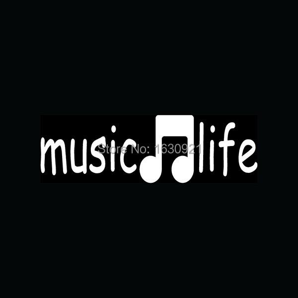 Piano w//Music Notes White Vinyl Car Window Sticker Cutout Decal