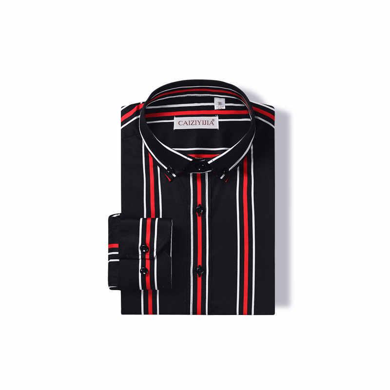 Высокое качество 100% хлопок Мужская Вертикальная полосатая рубашка модная деловая Повседневная рубашка с длинным рукавом на пуговицах Классическая Рабочая Рубашка